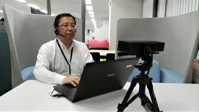 遠隔参加者はKinect等3Dセンサーにより映像取得