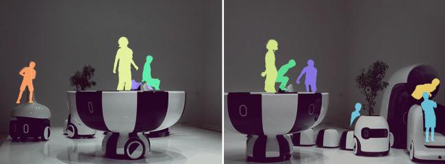 Magic Leap 1 を装着して展示物を見ると子供たちが「coen car」で遊ぶ様子を見ることができます。