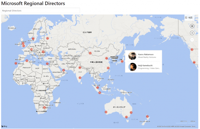 Regional Director Map 世界で200人。日本ではたった4人!
