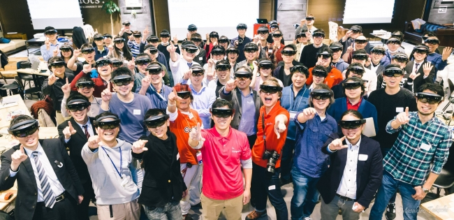 2017年2月第一回Tokyo HoloLens Meetup (Photo by 集合写真家Masahiro Takechi)