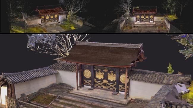 KYOTO'S 3D STUDIO さまブースでは点群を3Dメッシュ化した文化財をHoloLens 2 で見られる