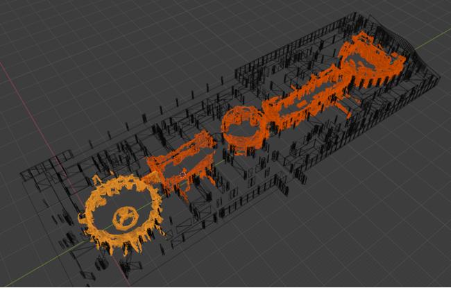 ヴィーナスフォート対象エリアのデジタル3D空間