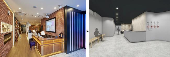 エントランス 左:旧・グランパーク・イン横浜 → 右:カプセルプラス横浜