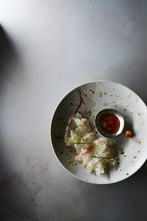 白身魚のてっさ風みかんぽん酢