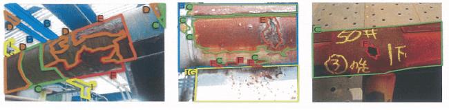 学習データとして、腐食ランクごとにラベリングした配管画像約5,000枚を利用します