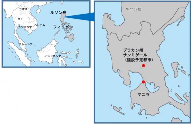 建設予定地の位置図