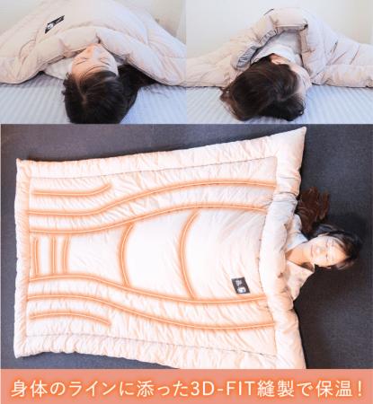 体のラインに添った3D-Fit縫製で保温!