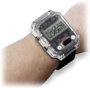腕時計型端末の装着