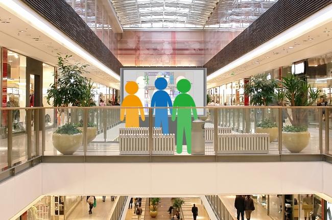 ショッピングモールにおける設置イメージ