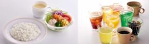 洋食ドリンク付セット ¥299(税込¥322)