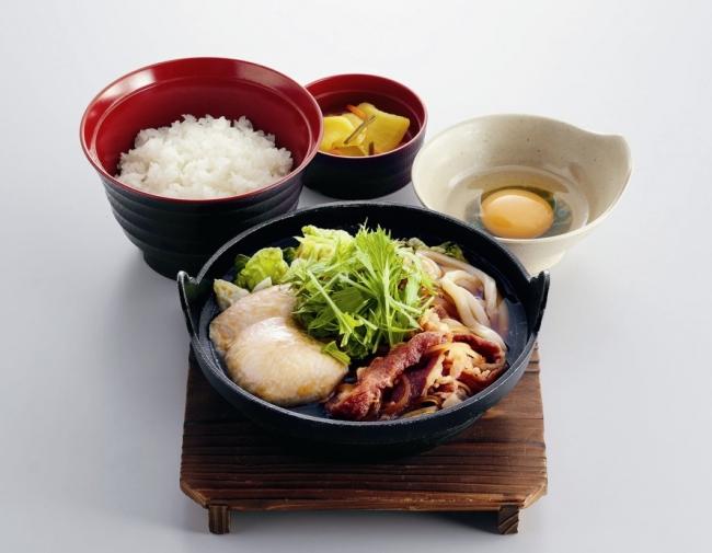 すき焼き鍋定食 ¥759(税込¥834) 単品:¥659(税込¥724)