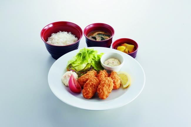 広島県産かきフライ定食 ¥799(税込¥878) 〈単品〉¥699(税込¥768)