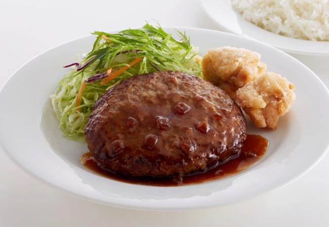 ハンバーグ&唐揚げ弁当  ¥459(税込¥495)
