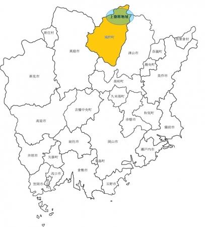 岡山県苫田郡鏡野町上齋原地域