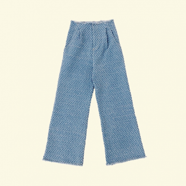 light blue fringe denim 8,900円