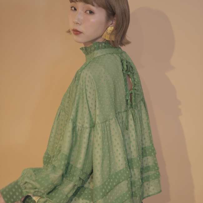 flower seeds tunic(white、green) 10,000円