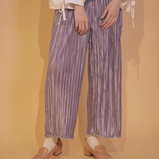 carnation pleats pants(brown、pink、purple) 7,200円