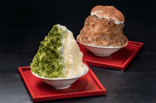 京都宇治抹茶かき氷・酒粕ティラミス