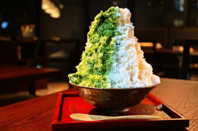 京都宇治抹茶ミルクかき氷(ハーフサイズ)・・・580円