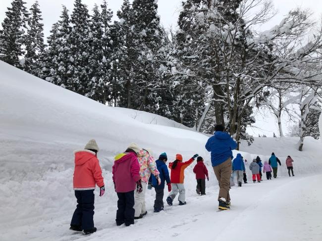 豪雪地域での暮らし体験の様子