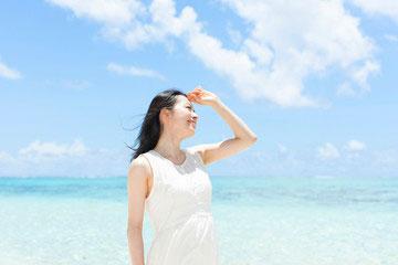 広範囲で紫外線をはじき返し汗や水にも強い!