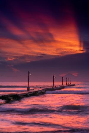 「原岡桟橋と夕陽」IORI.Yさん