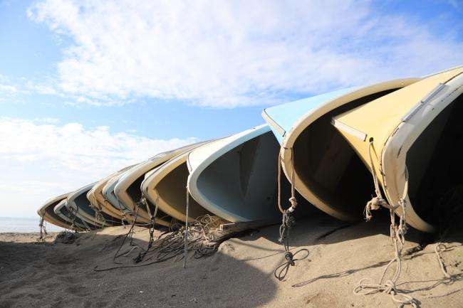 葉山町の砂浜
