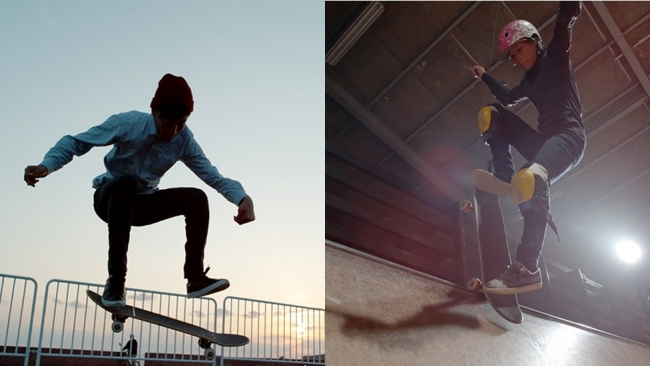 小さな町で偶然出会った二人がスケートボードで世界を目指す(和歌山県・平松凱選手、  四十住さくら選手)