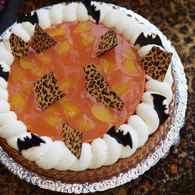 オレンジと柿のタルト バニラクリーム