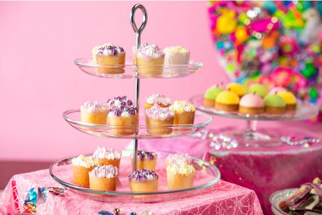 ピーチプリズムカップケーキ