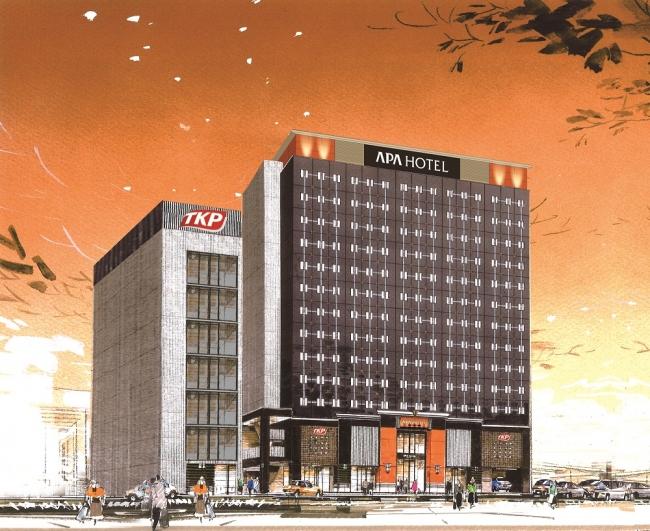 アパホテル〈TKP仙台駅北〉外観イメージ