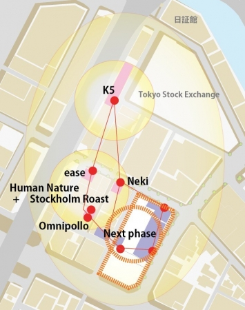 日本橋兜町の再活性化イメージマップ
