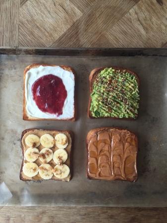 朝食メニュー「トースト」各種