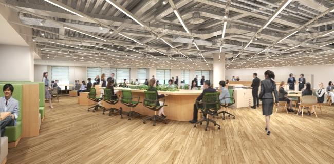 『アカデミア』をテーマとしたオフィス空間