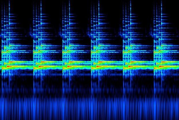 お知らせ音の音響分析(スペクトログラム)