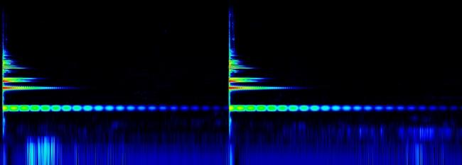サイン音を制作する理論背景となる鐘の音の音響分析(スペクトログラム)
