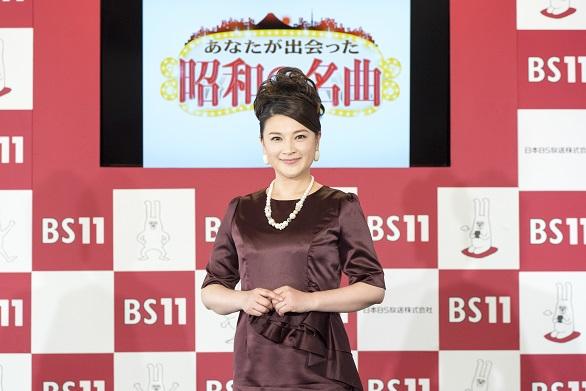 2月28日BS11 4月改編説明会記者会見 島崎和歌子さん