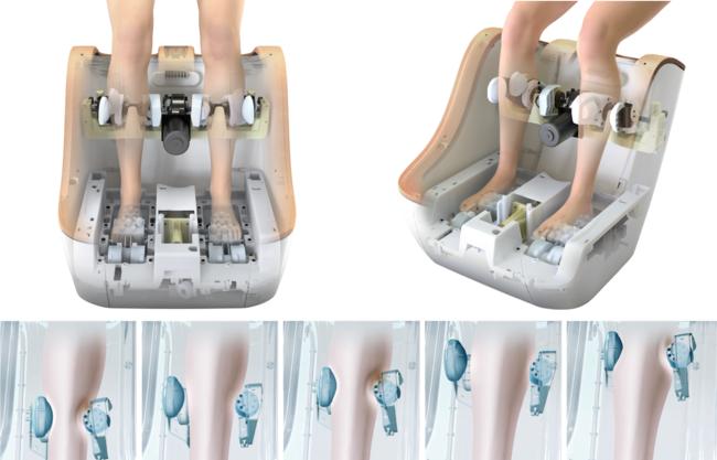 ふくらはぎ、足裏に独自のもみメカを搭載。SYNCA(シンカ)フットマッサージャー ネスト