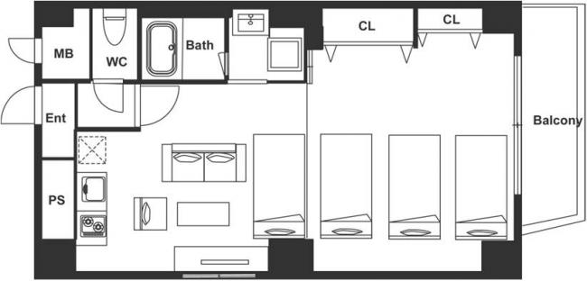 ▲客室レイアウト例