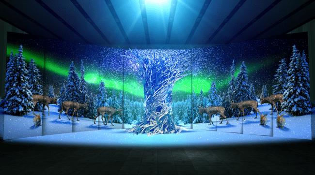 """WORLD TRAVEL TREE """"AOYAMA"""" 幻想的な音と映像の7Days 12/20(金)から26 (木)まで ワールド北青山ビルでプロジェクションマッピング"""