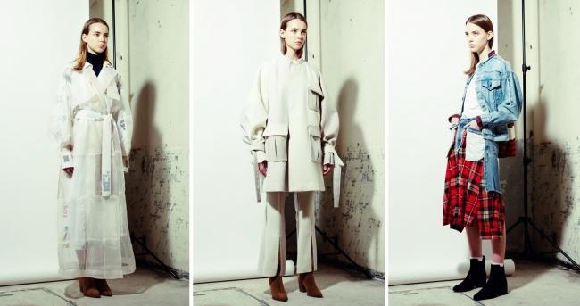 コラボレーションした2020年秋冬コレクションより。「RAGTAG」の倉庫からピックアップした古着を素材として仕立てた。