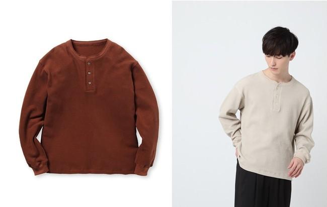 ワッフルヘンリーネックプルオーバー ¥9,900(税込) 4色