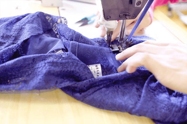 福井県若狭町の縫製工場で生産
