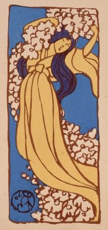 浅井忠《花神を祭る》『さをしか』(明治40(1907)年)佐倉市立美術館蔵