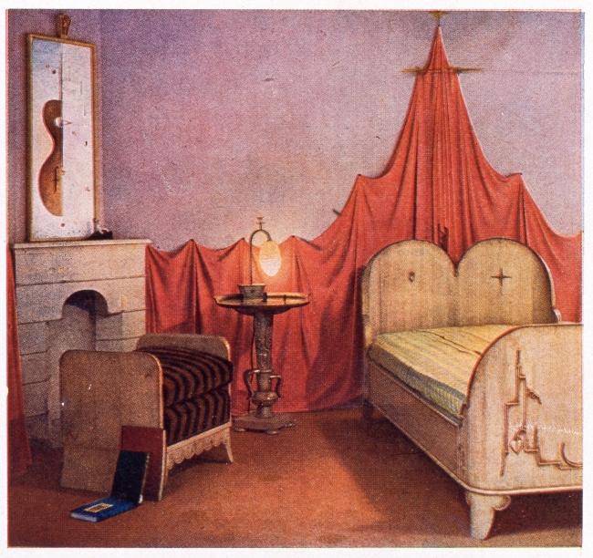 森谷延雄《ねむり姫の寝室》『婦人グラフ』挿図 大正14(1925)年 佐倉市立美術館蔵