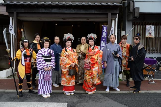 お姫さま、  侍、  芸人、  町人、  町娘などなど佐倉城下の住人が町を練り歩きます