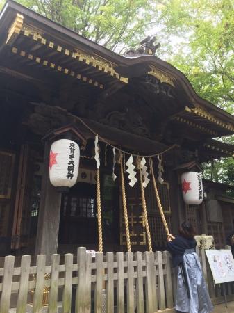 サムライの信仰を集めた麻賀多神社にて