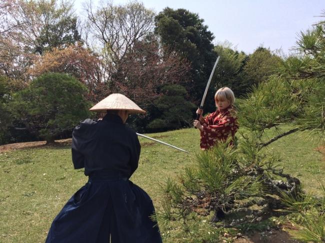 旧大名邸宅である旧堀田邸の庭園で撮影