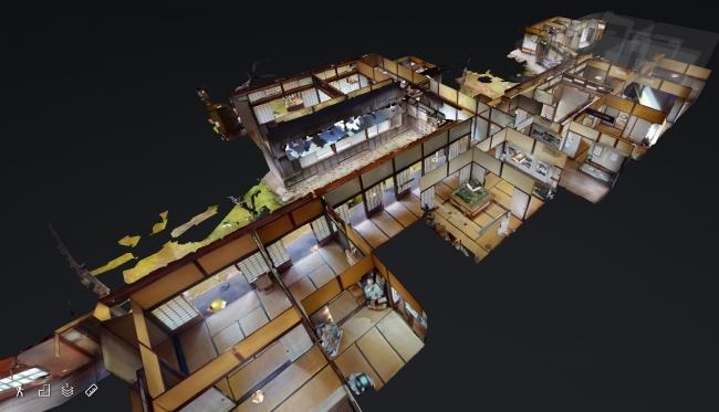 旧堀田邸の屋内を3Dウォークスルーで楽しめる (C)VR革新機構 提供:佐倉市文化課