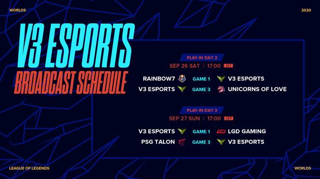 「V3 Esports」試合情報